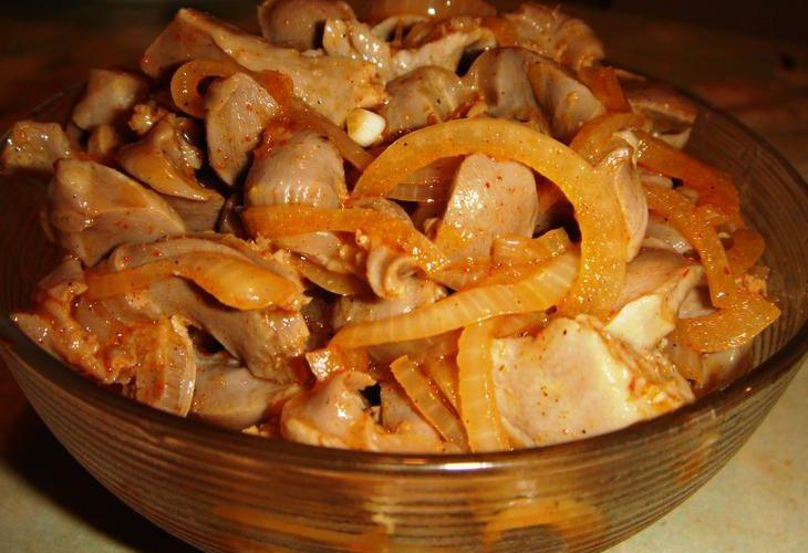2 этап салат из куриных желудочков