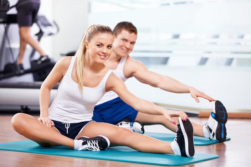 Спортивные занятия при использовании диеты