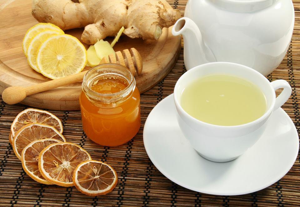чай с имбирём с добавлением лимона