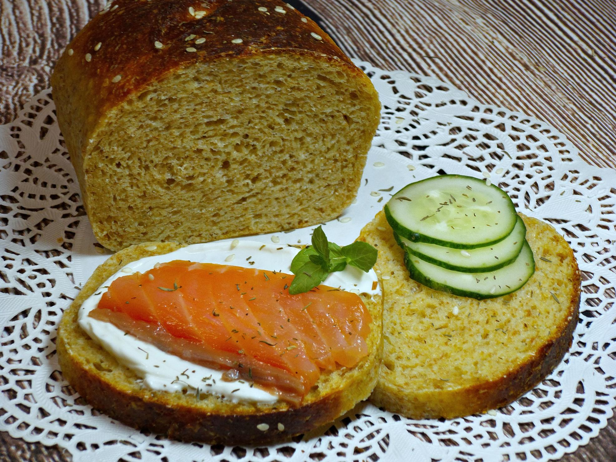 хлеб с добавлением крабовых палочек