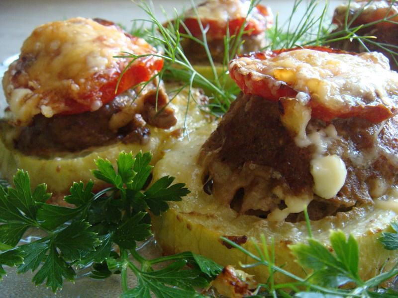 кабачок с грибами.рецепты