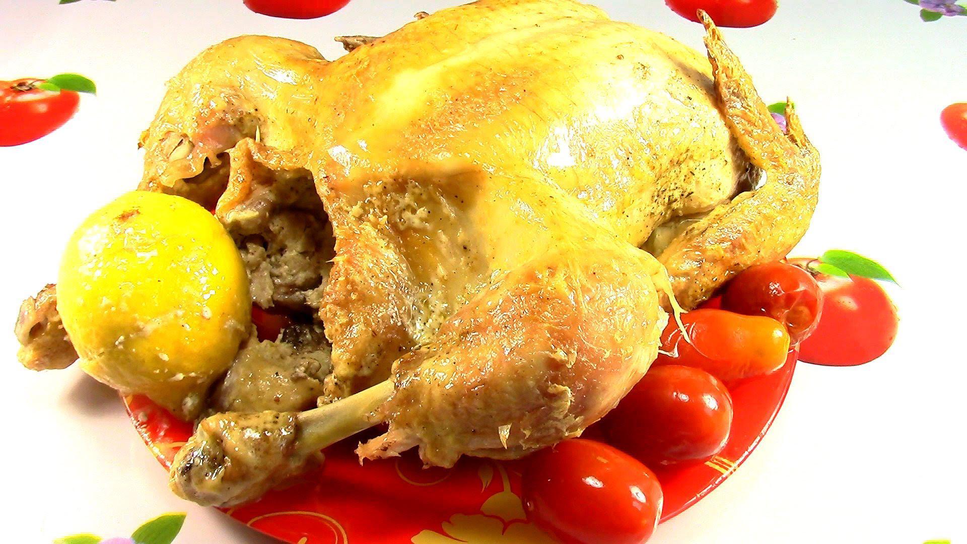 курица с лимоном и апельсином в духовке подать на стол