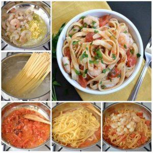 Макароны и морепродукты