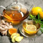 Чай с имбирём и лимоном для похудения.