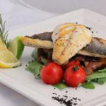 Рецепт рыбы дорадо на овощной подушке.