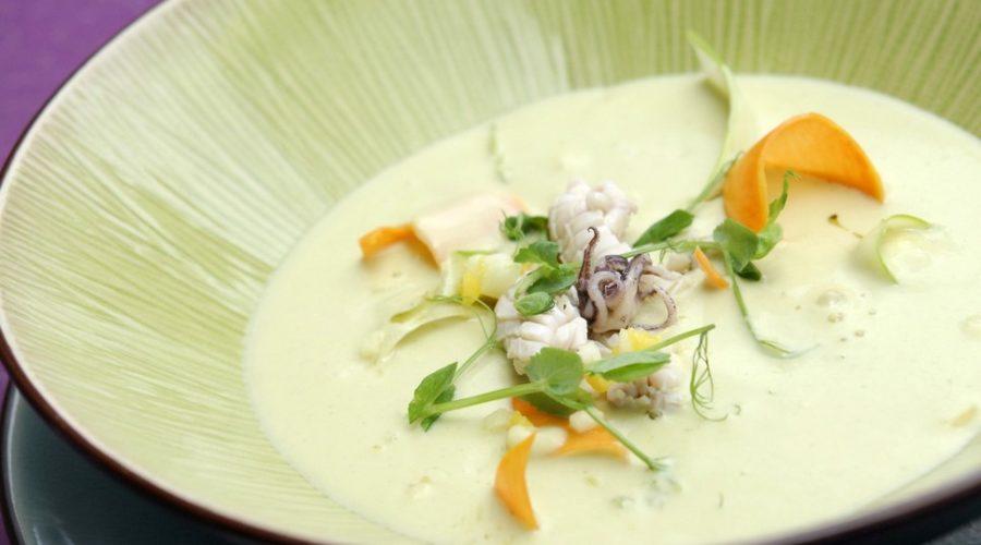 Крем суп из кальмаров