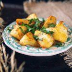 Жаренный картофель из патисона.
