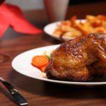 Курица с добавлением имбиря и чеснока.