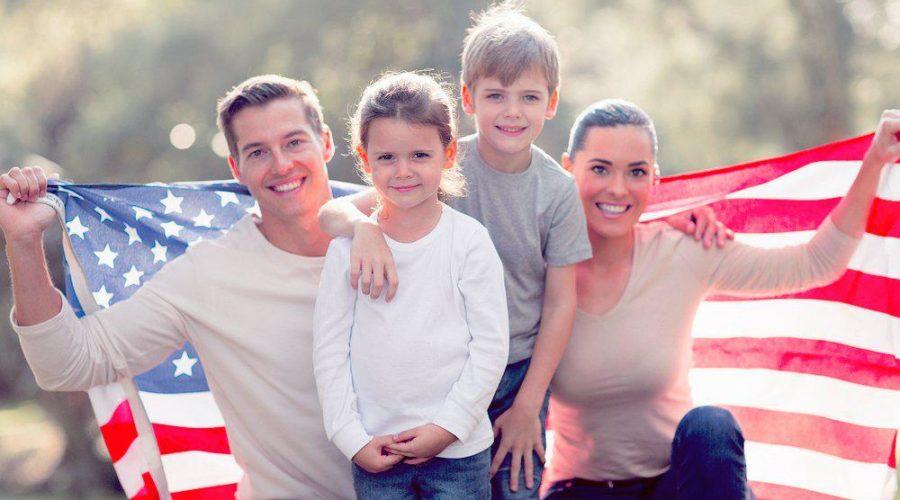 американская семья